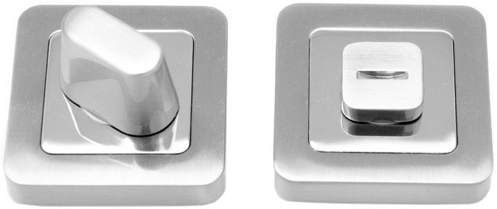 Фиксатор квадратный WC R40 MSN/CP матовый сатин никель / полированный хром