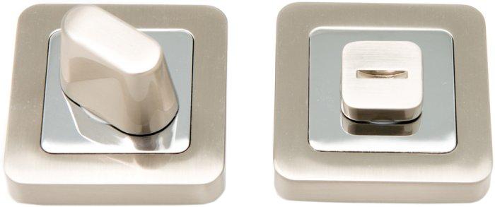 Фиксатор квадратный WC R40 матовый никель / полированный хром