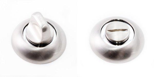 Фиксатор WC R47 матовый никель / полированный хром