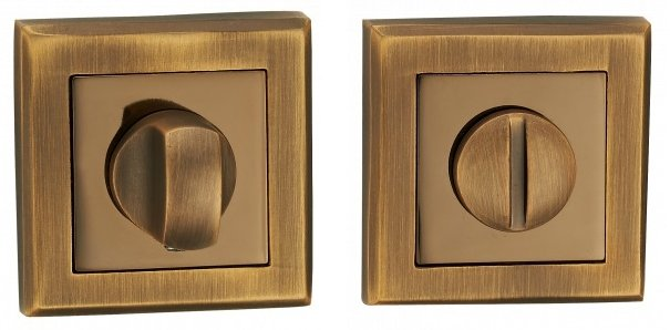 Фиксатор квадратный AF-2 WC матовая бронза