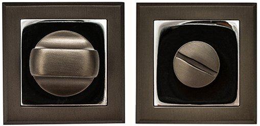 Фиксатор квадратный AF-2 WC графит / полированный хром