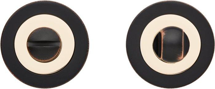 Фиксатор Z2 ORB/PB черный мат с патиной / полированное золото
