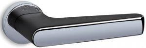 Дверные ручки Serie 2015 Convex черный мат / полированный хром
