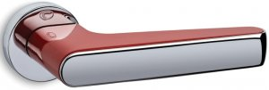 Дверные ручки Serie 2015 Convex красный / полированный хром