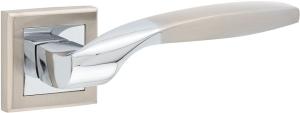 Входные двери AS-01 Hisar SN/CP матовый никель / полированный хром
