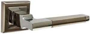 Дверные ручки Ручки Hisar AS-09 SN/CP матовый никель / полированный хром