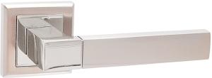 Дверные ручки Ручки Hisar AS-12 SN/CP матовый никель / полированный хром