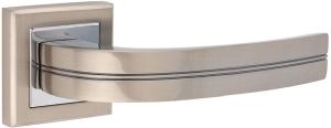 Дверные ручки Ручки Hisar AS-15 SN/CP матовый никель / полированный хром