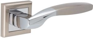 Дверные ручки Ручки Hisar ZS-01 SN/CP матовый никель / полированный хром