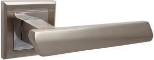 Дверные ручки Ручки Hisar ZS-03 SN/CP матовый никель / полированный хром