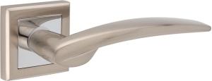 Дверные ручки Ручки Hisar ZS-05 SN/CP матовый никель / полированный хром