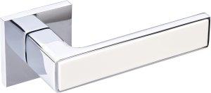 Дверные ручки Nikel Gavroche CP/BEIGE полированный хром / беж