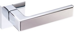 Дверные ручки Nikel Gavroche CP/BN полированный хром / черный мат никель
