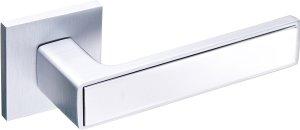 Дверные ручки Nikel Gavroche MSCB/CP итальянский сатин / полированный хром