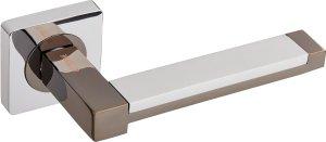 Дверная фурнитура Ручки Platinum Gavroche BN/CP черный мат никель / полированный хром