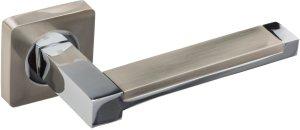 Дверные ручки Platinum Gavroche SN/CP матовый никель / полированный хром