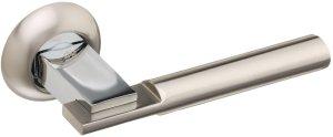 Ручки Gavroche Zirconium SN/CP матовый никель / полированный хром