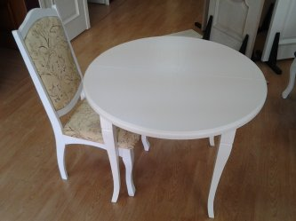 Раскладной стол и белый стул