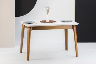 Столы и стулья Столи і стільці Cosmo Столы из ясеня  HPL белый мрамор
