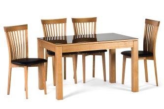 Комплект стіл Ніагар скло і 4 стільця 07 мякий