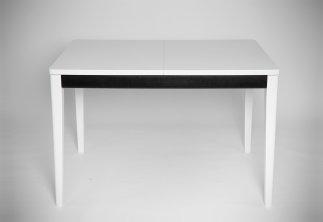 Столы и стулья Столи і стільці Прага White-Black Столы из ясеня біла стільниця шпон