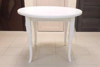 Столы и стулья Столи і стільці білий круглий Прованс Столы из ясеня білий, ral 9010 шпон