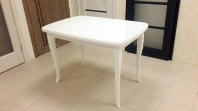 Столы и стулья Столи і стільці білий круглий Прованс штучний камінь Столы из ясеня білий, ral 9016 штучний камінь
