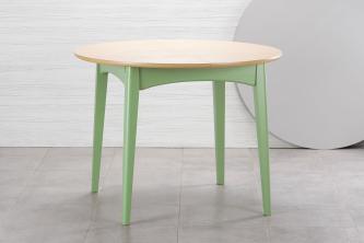 Столы и стулья Столи і стільці Senti круглий Столы из ясеня  шпон