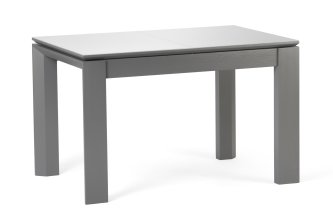 Стол серый Скандинав Luxe стекло
