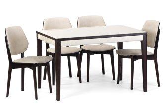 Комплект стіл Прага скло і 4 стільця Ромбо