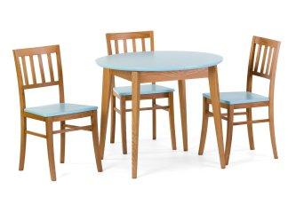 Комплект стол Триумф круглый и 3 стула Этник