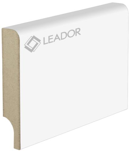 Плинтус Леадор белый мат МДФ ламинированный 2060 х 70 х 12 мм