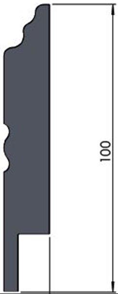 Плинтус Родос Classic C10 белый мат эмаль покраска МДФ эмалевая покраска 2000 х 100 х 16 мм