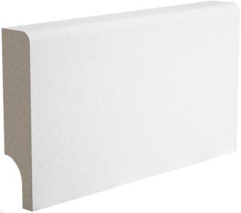 Плинтус Папа Карло білий мат МДФ ламинированный 2450 х 80 х 16 мм