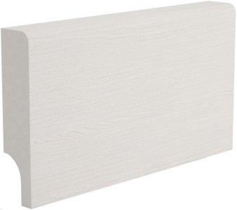 Плинтус Папа Карло білий ясень МДФ ламинированный 2450 х 80 х 16 мм