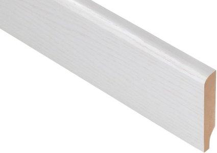 Плинтус Родос Basic R8 белый ясень шпон