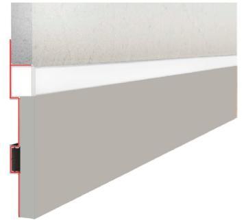 Плинтус Плинтус скрытого монтажа под LED освещение алюминий