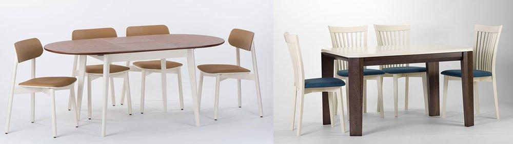 Столы и стулья кухонные